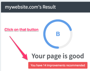 Improvements on the DIY audit tool: Click on that button