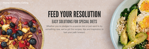 Screen shot of Whole Food Market Banner