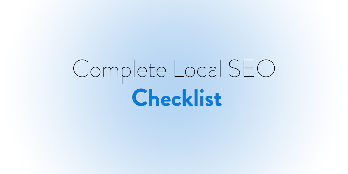 Complete Local SEO Checklist