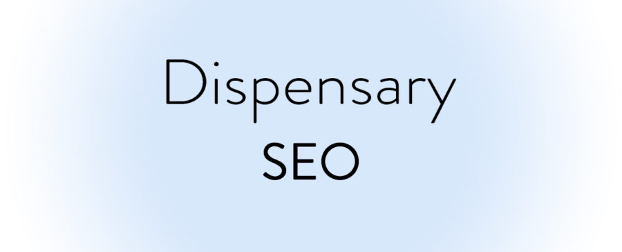 Dispensary SEO on blue gradient