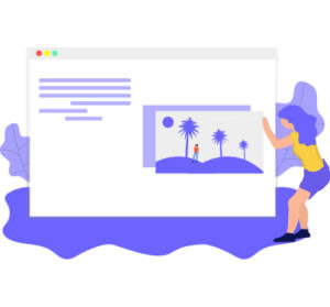 Woman playing with image on Google