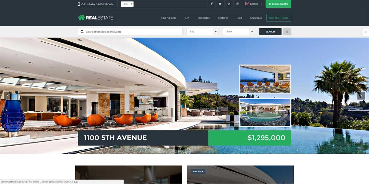 image of a real estate website